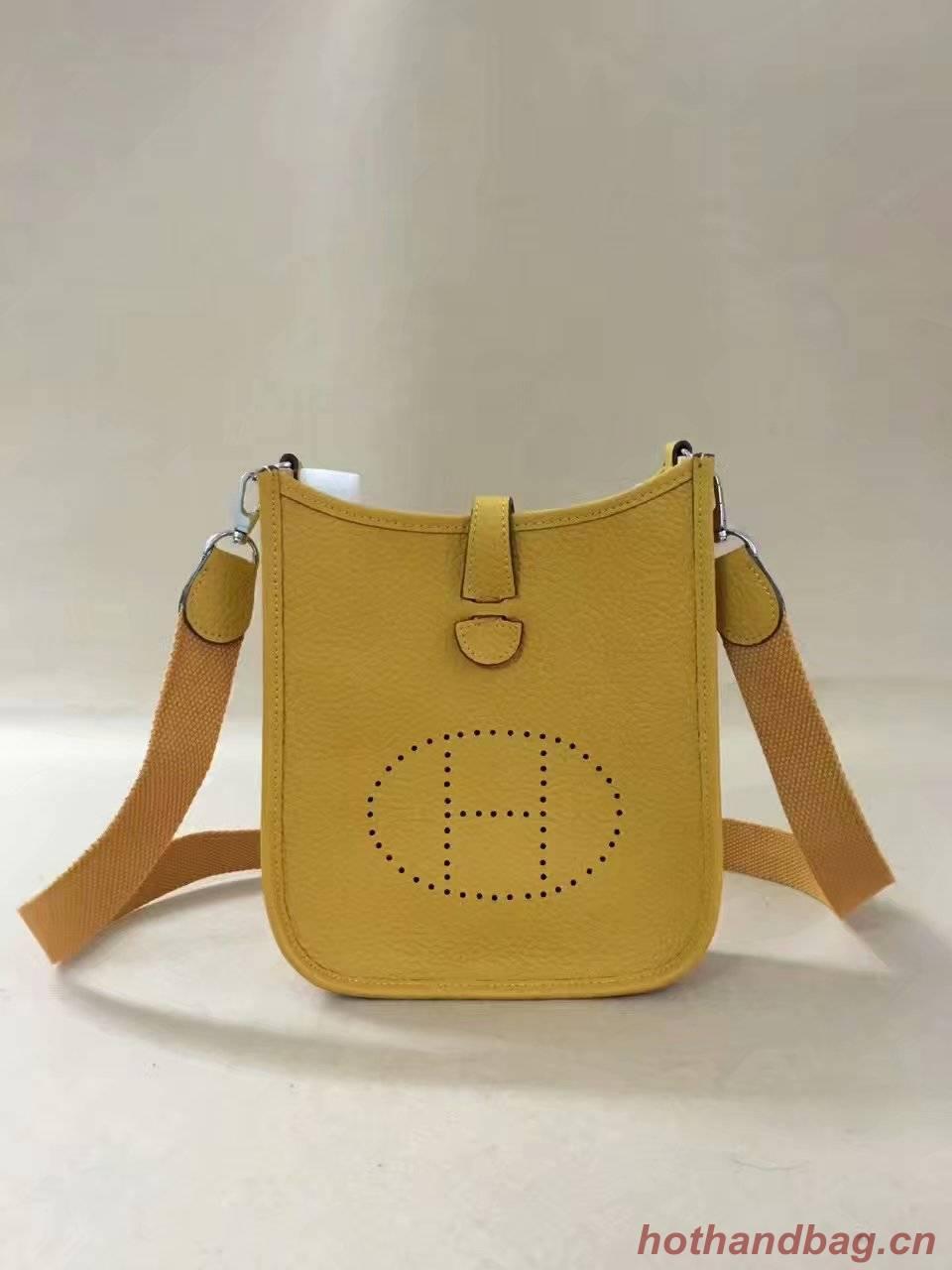 Hermes Evelyne original togo leather mini Shoulder Bag H15698 yellow