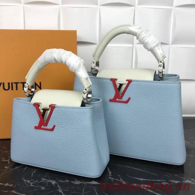 Louis Vuitton CAPUCINES PM M57519 light blue&white