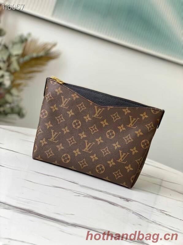 Louis Vuitton Original Monogram Canvas Zipper Clutch bag M64125 black