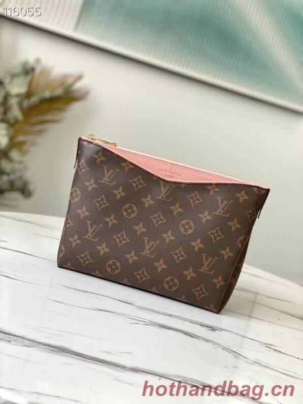 Louis Vuitton Original Monogram Canvas Zipper Clutch bag M64125 pink