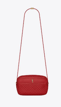 SAINT LAURENT VICTOIRE CAMERA BAG IN QUILTED LAMBSKIN 6489901 red