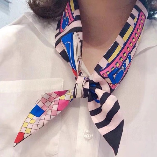 Hermes Twilly Small silk scarf H06375