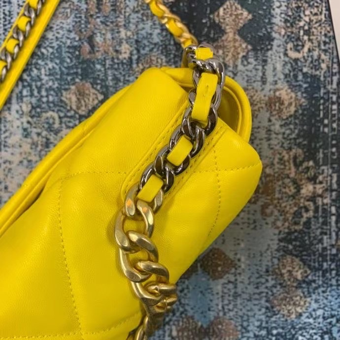 Chanel 19 flap bag AS1160 AS1161 AS1162 yellow