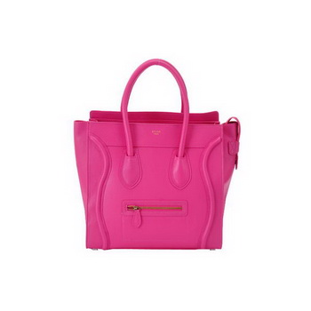 Celine Large Luggage Bags in Peach Oxhide