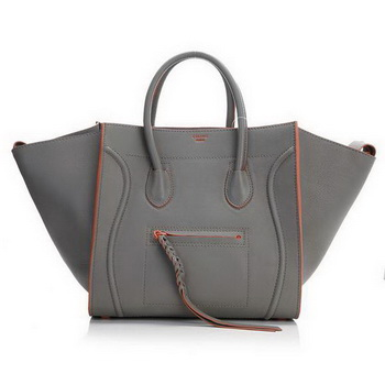 Celine Luggage Phantom Original Leather Bags Khaki Orange