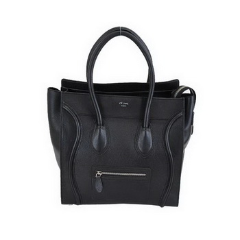 Celine Luggage Mini Boston Bags Calskin Leather Black