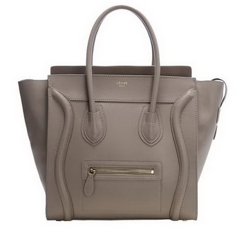 Celine Luggage Mini Boston Tote Bags Original Leather Khaki