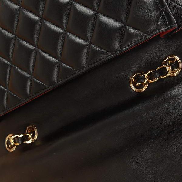 Chanel Jumbo Bags A36073 Black Lambskin Leather Golder Hardware