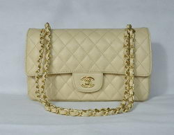 Chanel 2.55 Quilted Flap Bag 1112 Beige with Gold Hardware