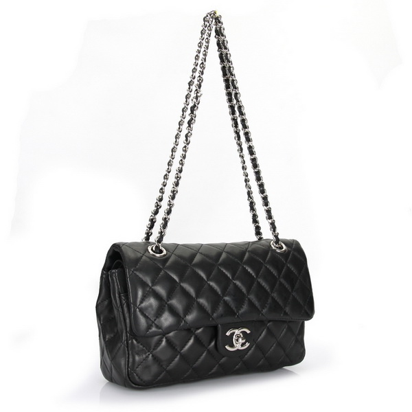 Chanel Classic Flap Bag Original Leather A1112 Black