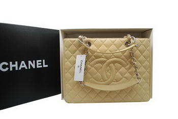 Hot Style Chanel GST Caviar Leather Coco Bag A36092 Cream Silver