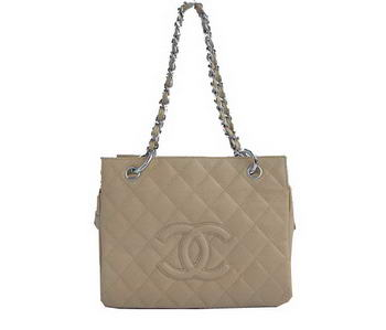 Cheap Chanel Coco Cocoon Bags A18004 Apricot Silver