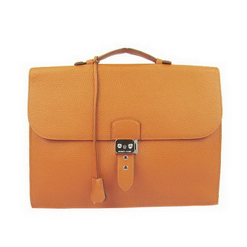 Hermes Sac Depeche 38cm Briefcase Clemence Orange