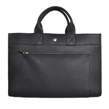 Hermes Briefcase 40CM Clemence Leather Bag Black