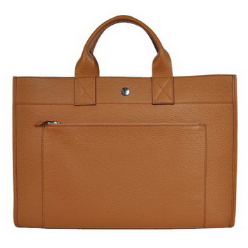 Hermes Briefcase 40CM Bag Clemence Leather Camel