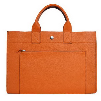 Hermes Briefcase 40CM Clemence Leather Bag Orange