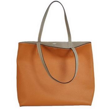 Hermes Shopping Bag 36CM Totes Clemence Camel