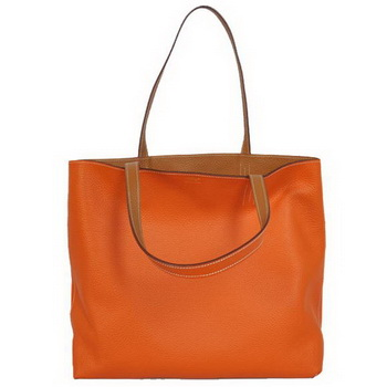 Hermes Shopping Bag 36CM Totes Clemence Orange