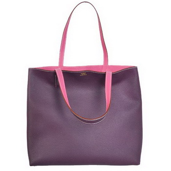 Hermes Shopping Bag 36CM Totes Clemence Purple
