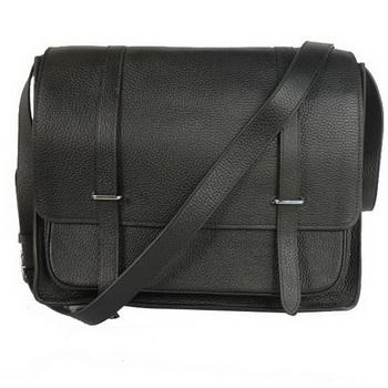 Hermes Steve 35CM Messenger Bag Clemence Leather Black