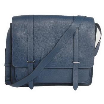 Hermes Steve 35CM Messenger Bag Clemence Leather Dark Blue