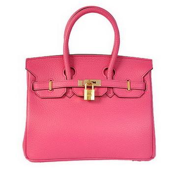 Hermes Birkin 25CM Tote Bags Togo Leather Peach Godlen
