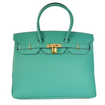Hermes Birkin 35CM Tote Bags Togo Leather Green Golden