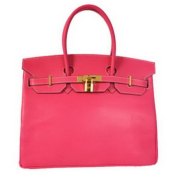 Hermes Birkin 35CM Tote Bags Togo Leather Mid Peach Golden