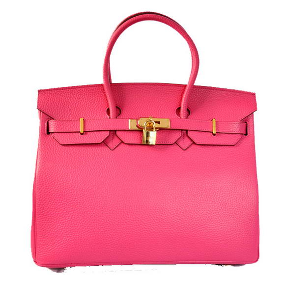 Hermes Birkin 35CM Tote Bags Togo Leather Peach Golden