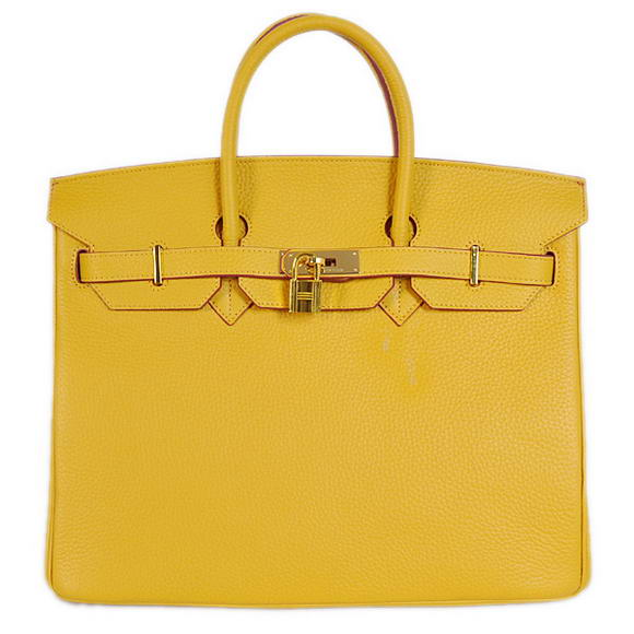 Hermes Birkin 35CM Tote Bags Togo Leather Yellow Golden