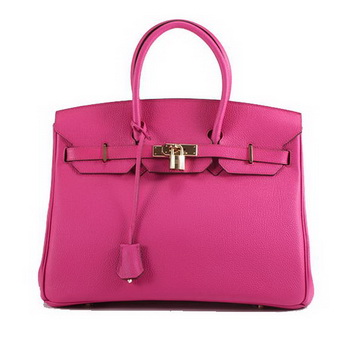 Hermes Birkin 35CM Smooth Leather Handbag 6089 Rose Golden