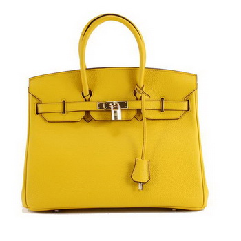 Hermes Birkin 35CM Togo Leather Handbag 6089 Yellow Golden