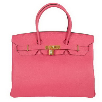 Hermes Birkin 35CM Tote Bags Smooth Togo Leather Peach Golden