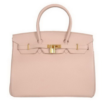Hermes Birkin 35CM Tote Bags Smooth Togo Leather Pink Golden