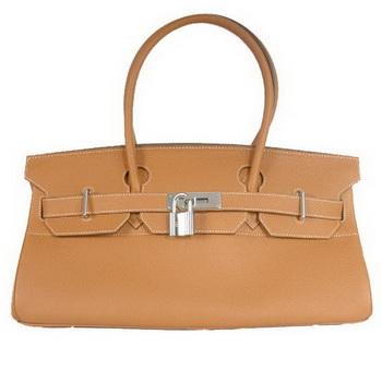 Hermes Birkin 42cm JPG Birkin Togo Leather Camel Bag Silver Hardware