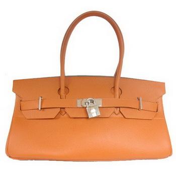 Hermes Birkin 42cm JPG Birkin Togo Leather Orange Bag Silver Hardware