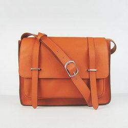 Hermes Jypsiere Togo Leather Messenger Bag H2810 Orange