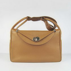 Hermes Lindy 34CM Shoulder Bag Coffee
