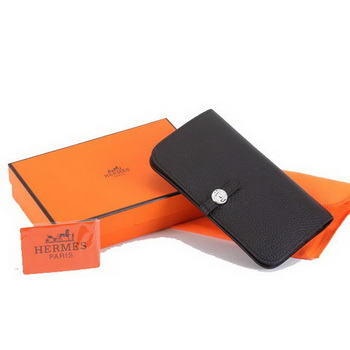 Hermes Dogon Combined Wallets A508 Black