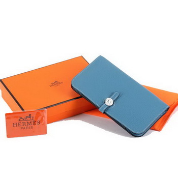 Hermes Dogon Combined Wallets A508 Blue
