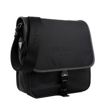 Prada Fabric Messenger Bag V166 Brown