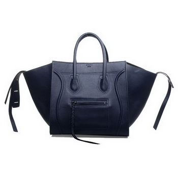 Celine Luggage Phantom Original Calfskin Bags Dark Blue