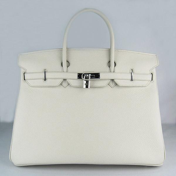 Hermes Birkin 40CM Togo Bag Beige 6099 Silver