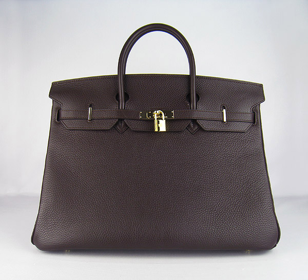Hermes Birkin 40CM Togo Bag Dark Coffee 6099 Gold
