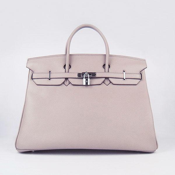 Hermes Birkin 40CM Togo Bag Grey 6099 Silver