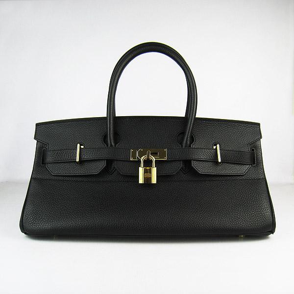 Hermes Birkin 6109 Togo Leather Bag Black 42cm Gold
