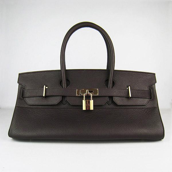 Hermes Birkin 6109 Togo Leather Bag Dark Coffee 42cm Gold