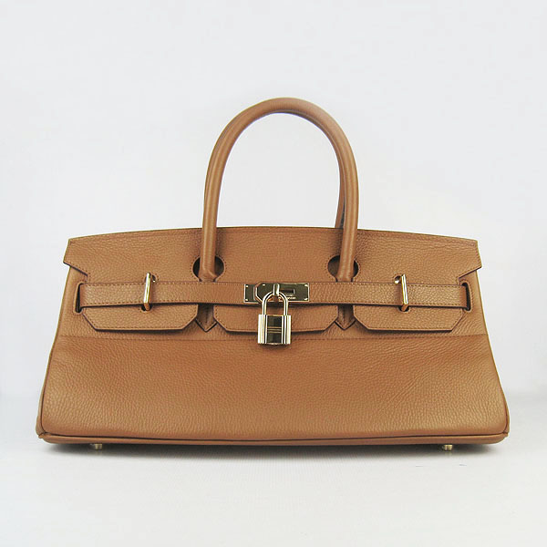 Hermes Birkin 6109 Togo Leather Bag Light Coffee 42cm Gold