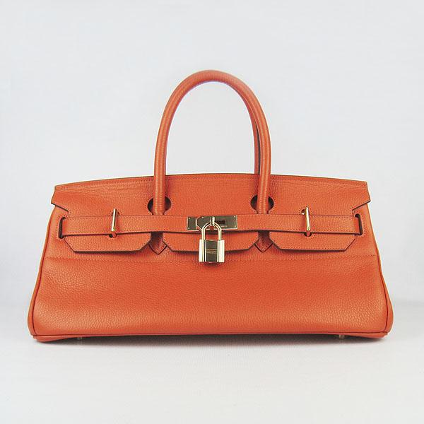 Hermes Birkin 6109 Togo Leather Bag Orange 42cm Gold