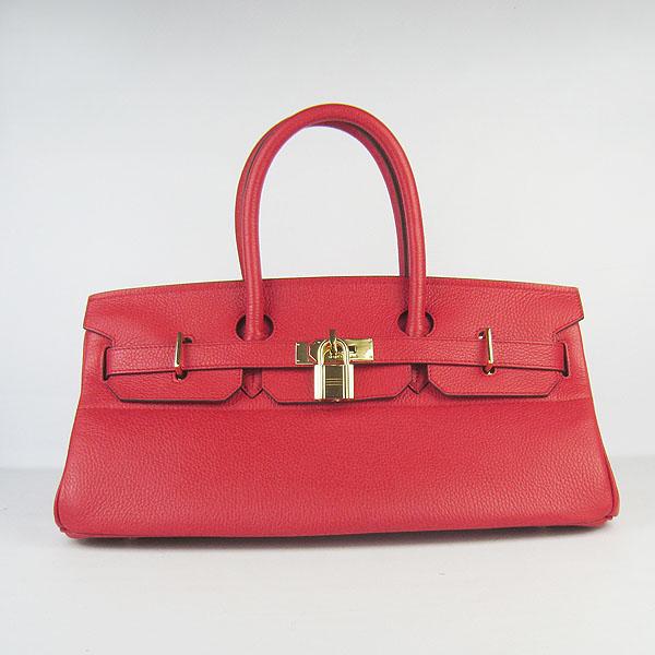 Hermes Birkin 6109 Togo Leather Bag Red 42cm Gold